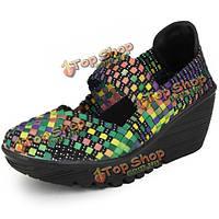 Пояс Эластичный сплетенный качели женского спорта сандалии Обувь