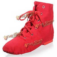 Джазовики - обувь танцевальная тканевая на шнуровке