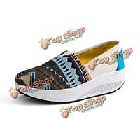 Новых мужчин осень спортивные низким топ кроссовки холст качели платформы обувь кроссовки обувь