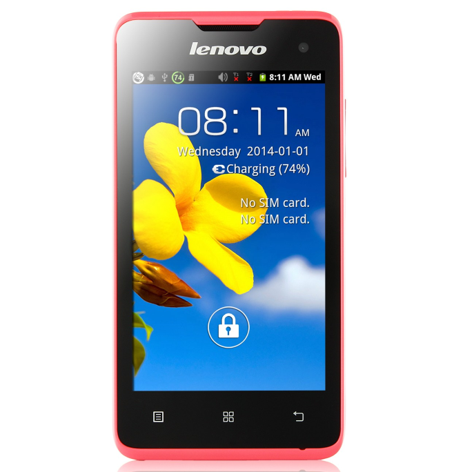 Lenovo A396 экран 4.0 ,4 ядра, 2sim, Android 4.2, камера 2.0Мp, pink