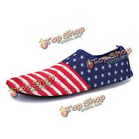 Унисекса летом плавание мягкая не скользит дышащий комфортно случайные Yoga обувь на плоской подошве