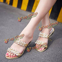 Женские летние пляжные сандалии с ремешками сандалии металла платформы дышащий тапочки обувь