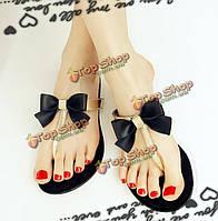 Женские летние пляжные сандалии бабочки флип-флоп дышащие трет-ремешками тапочки