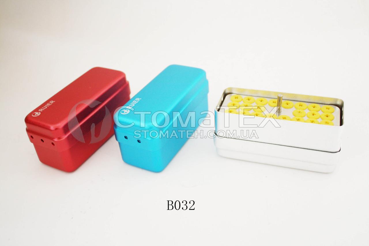 Контейнер для насадок ультразвуковых скаллеров и имплантов B032, 22 отверстия (синий)