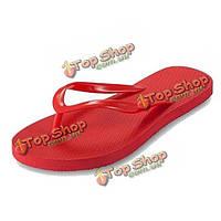 Женщины плоские тапочки пляж обувь удобные домашние шлепанцы летние тапочки обувь