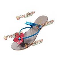 Сладкий цветок плоский повседневная обувь вьетнамки тапочки
