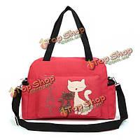 Большая тканевая сумка с кошкой Спорт
