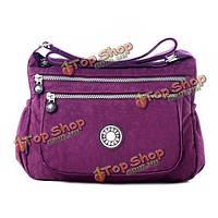 Женщины многослойные молнии карманы сумки дамы легкий нейлон сумка водонепроницаемый Crossbody сумки