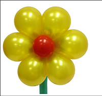 Маленький цветок из шаров