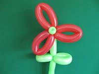 Цветок из шаров для моделирования