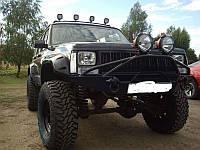 Передний бампер для Cherokee XJ с кенгурятником (тип Дельта)