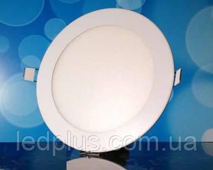 Встраиваемый светодиодный светильник 220В 12Вт БЕЛЫЙ PL-R12