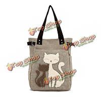 Женская симпатичная сумка с изображением кошек