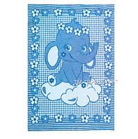Детское одеяло полушерсть Слоник на тучке 100х140см