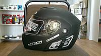 Шлем трансформер FGN с двойным визором черный матовый, фото 1