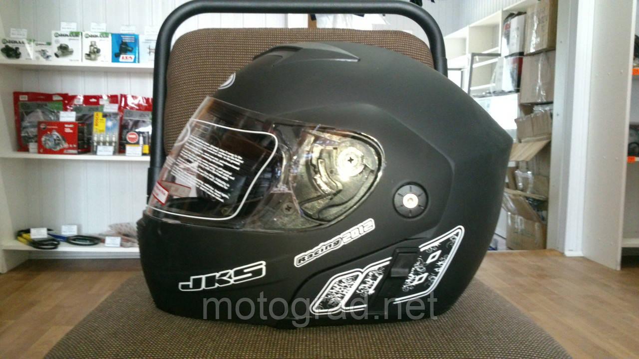 Шлем трансформер FGN с двойным визором черный матовый
