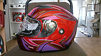 Шлем трансформер FGN красный женский