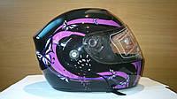 Шлем трансформер FGN с бабочками женский