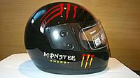 Шлем BLD интеграл Monster Energy черный с красным