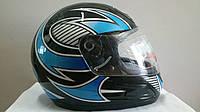 Шлем BLD интеграл черно-синий