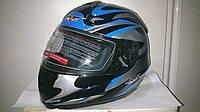 Шлем CAN интеграл черно-серо-синий