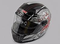 Шлем LS-2 FF385 интеграл с очками черно-серый