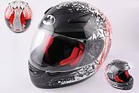 Шлем BATMAN интеграл SA-07 черно красный