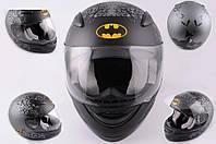 Шлем BATMAN интеграл SA-07 черный матовый