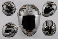 Шлем Beon интеграл Dark Angel черный