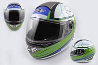 Шлем KOJI 550 premium интеграл бело зеленый