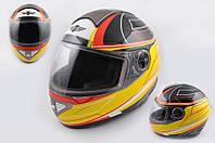 Шлем KOJI 550 premium интеграл черно желтый