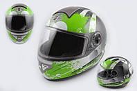 Шлем KOJI 550 premium интеграл черно зеленый