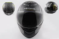 Шлем MONSTER ENERGY интеграл черный матовый