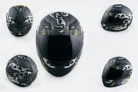 Шлем VR-1 интеграл CFP05 черный матовый с рисунком