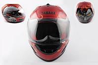 Шлем YAMAHA интеграл HAWK красный