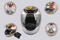 Шлем 46 YOUAI интеграл CRAZY CHICKEN бронзовый