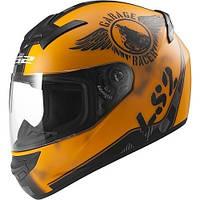 Шлем интеграл LS2 FF352 ROOKIE FAN MATT ORANGE, фото 1