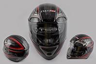Шлем интеграл LS-2 FF375 с очками красный