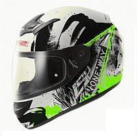 Шлем интеграл LS2 FF352 ROOKIE ONE BLACK-FLUO GREEN