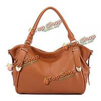 Женщины элегантный галечные кожаные сумки дамы старинные сумки плеча мешки Crossbody