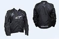 Мото куртка кожзам-текстиль Альпинстар с защитой размер L
