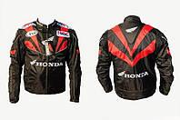 Мото куртка текстиль HONDA №2 черно-красная