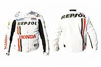 Мото куртка текстиль REPSOL HONDA белая
