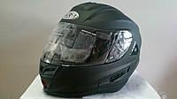 Шлем VR-1 трансформер с двойным визором черный матовый