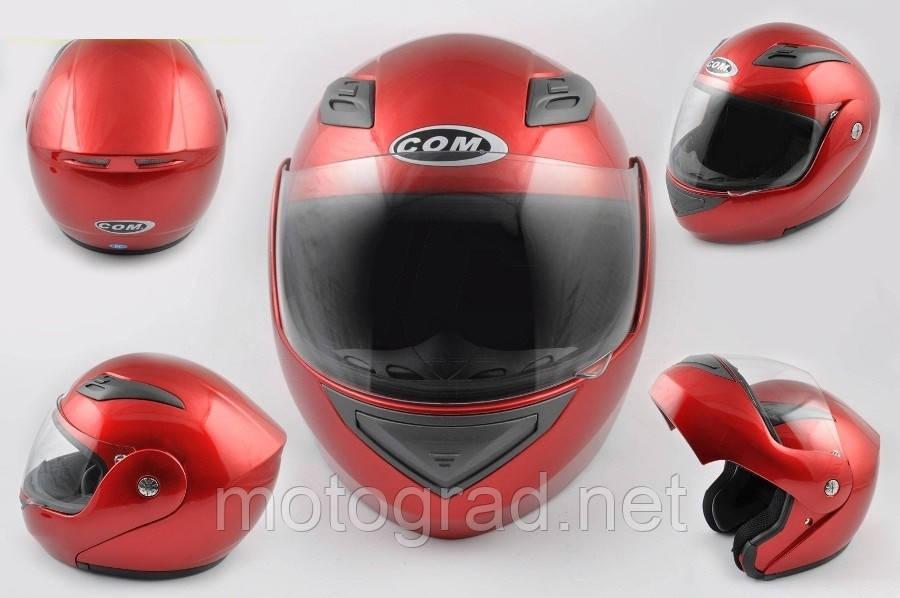 Шлем COM трансформер K991 красный