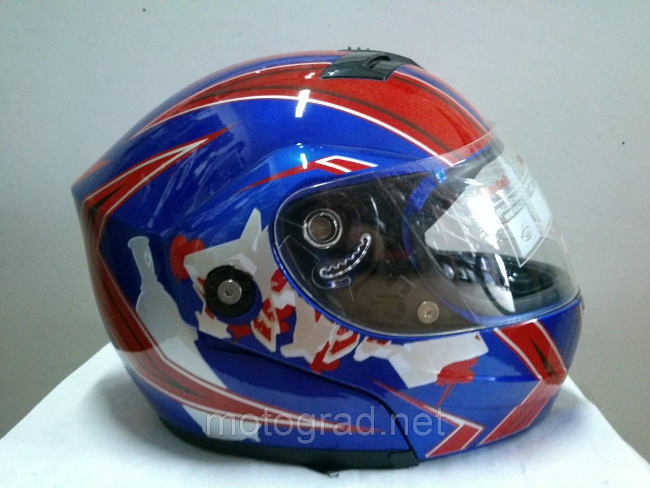 Шлем трансформер YORK сине-красный