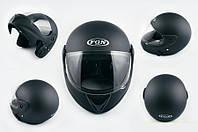 Шлем FGN трансформер 266 черный матовый