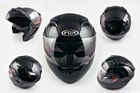 Шлем FGN трансформер 688 с двойным визором черный
