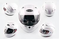 Шлем FGN трансформер 688 с двойным визором белый
