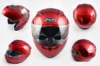 Шлем FGN трансформер 688 с двойным визором красный
